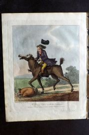 Henry Bunbury 1812 HCol Horse Satire Print. A Daisy Cutter with his Varieties